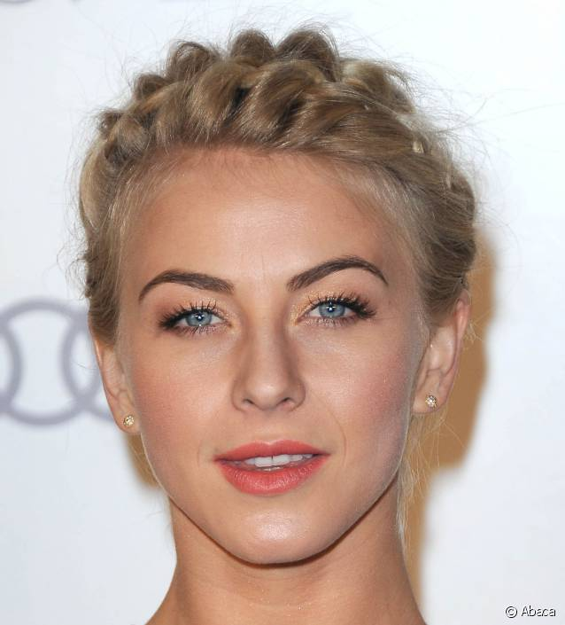 tresse couronne Julianne Hough