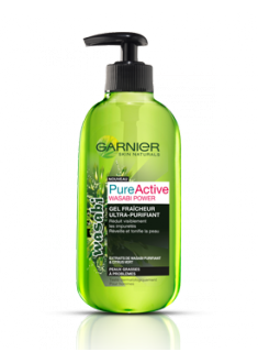 Pure Active - Gel fraîcheur ultra-purifiant Wasabi Power  de Garnier